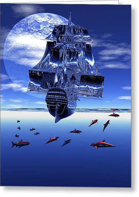 Dream Sea Voyager Greeting Card by Claude McCoy