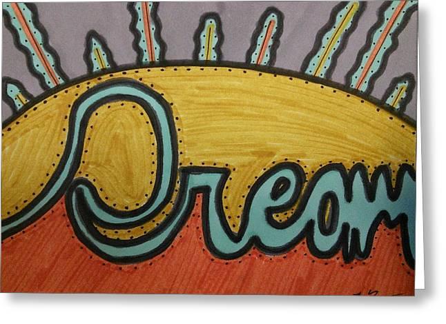 Dream Greeting Card by SOS Art Gallery
