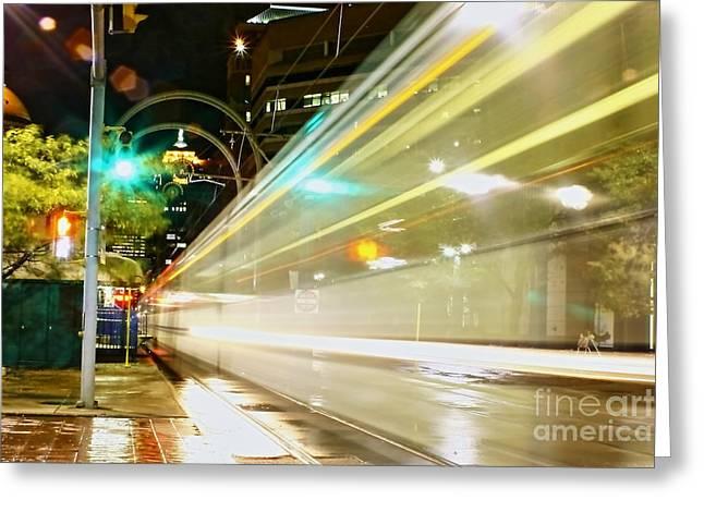 Dream Subway Train Greeting Card by Daniel J Ruggiero