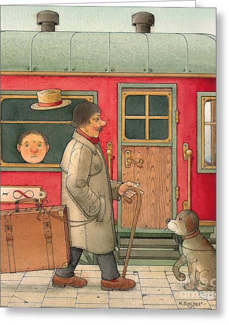 Dream Suitcase Greeting Card by Kestutis Kasparavicius