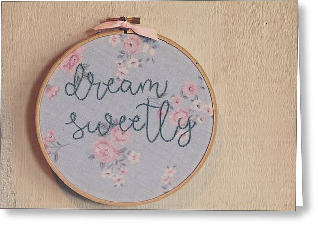 Dream Sweetly Greeting Card by The Art Of Marilyn Ridoutt-Greene