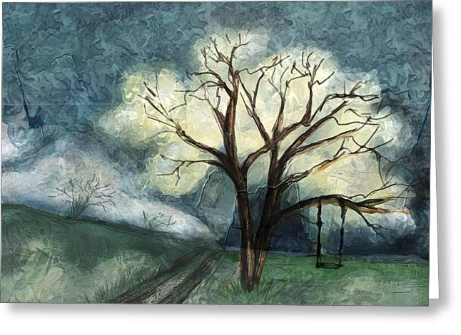 Dream Tree Greeting Card by Annette Berglund