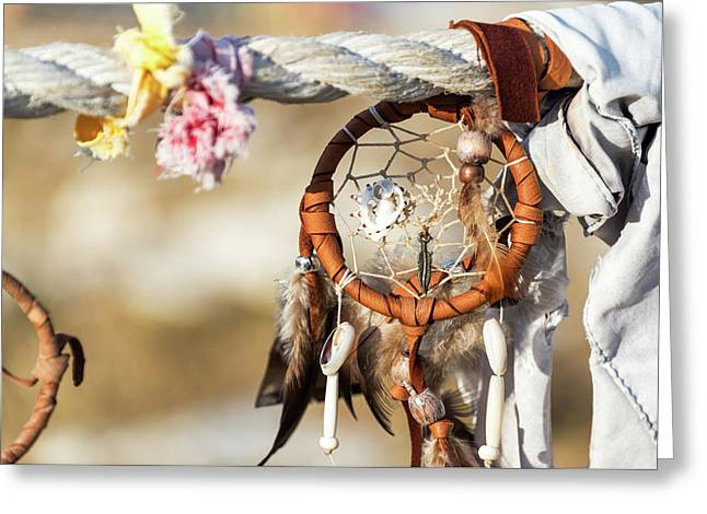 Dreamcatcher At Medicine Wheel Greeting Card by Jess Kraft
