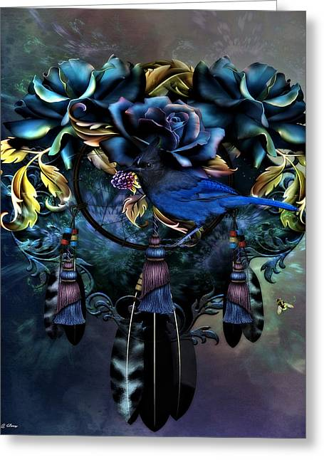 Dreamcatcher Blues 02 Greeting Card by G Berry