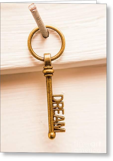 Dreamer Keys Greeting Card by Jorgo Photography - Wall Art Gallery