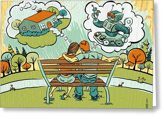 Dreamers Greeting Card by Baird Hoffmire