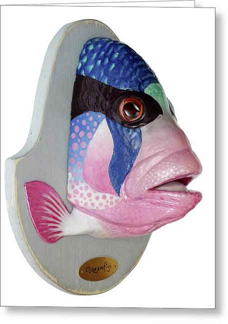 Handmade Sculptures Greeting Cards - Dreamfish trophy Greeting Card by Artem Efimov