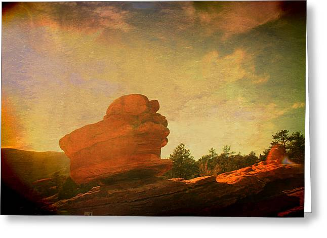 Dreamin' In Color Greeting Card by Toni Hopper