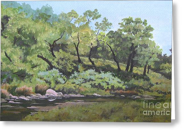Dreaming By The Creek Greeting Card