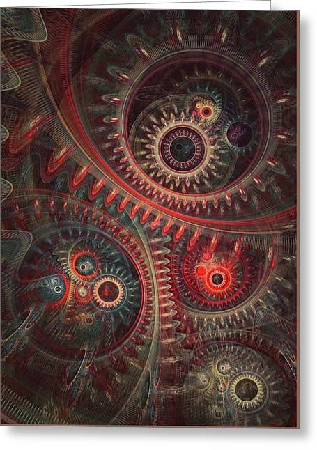 Dreaming Clocksmith Greeting Card by Martin Capek