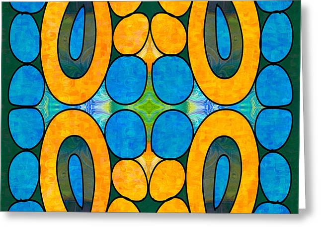 Dreaming In Circles Abstract Hard Candy Art By Omashte Greeting Card by Omaste Witkowski