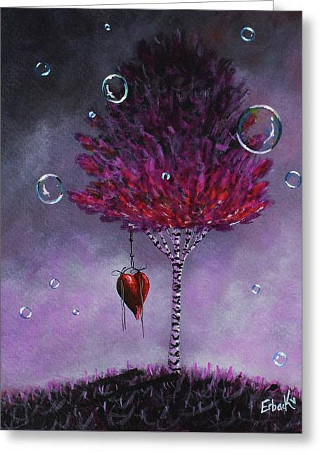 Dreaming Is Beautiful - Pink Tree Painting Greeting Card