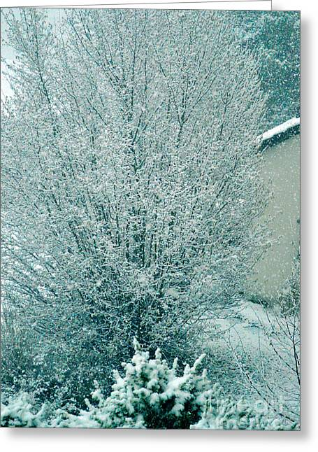 Greeting Card featuring the photograph Dreaming Of A White Christmas - Winter In Switzerland by Susanne Van Hulst