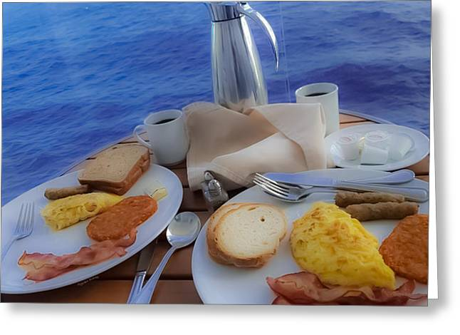 Greeting Card featuring the photograph Dreaming Of Breakfast At Sea by DigiArt Diaries by Vicky B Fuller