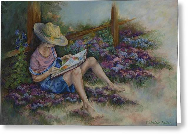 Overalls Pastels Greeting Cards - Dreaming of Cinderella Greeting Card by Kathleen Keller