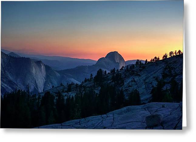 Greeting Card featuring the photograph Dreaming Of Climbing Half Dome by Peter Thoeny