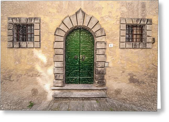 Dreaming Of Cortona Greeting Card by David Letts