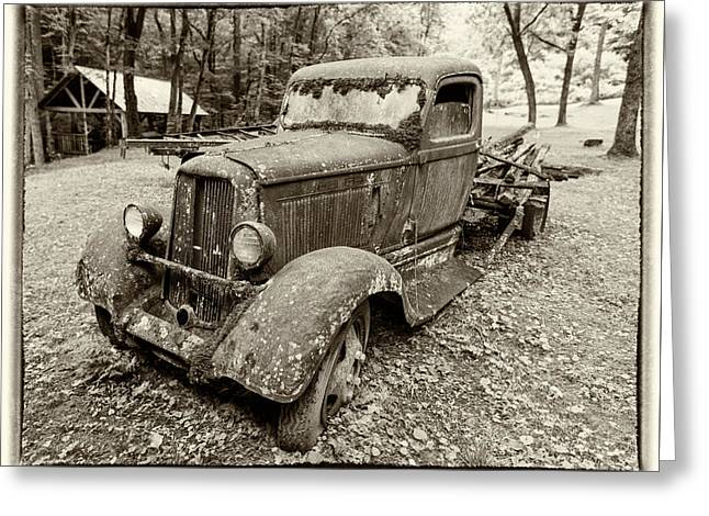 Dreaming Of Days Past - Vintage Dodge Truck Greeting Card by Stephen Stookey