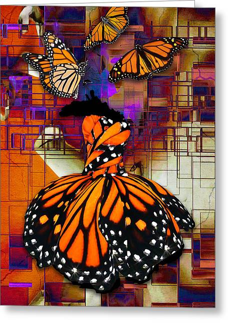 Greeting Card featuring the mixed media Dreaming Of Flying High by Marvin Blaine