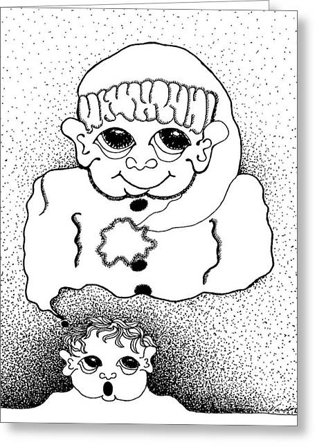 Dreaming Of Santa Greeting Card by Joy Bradley