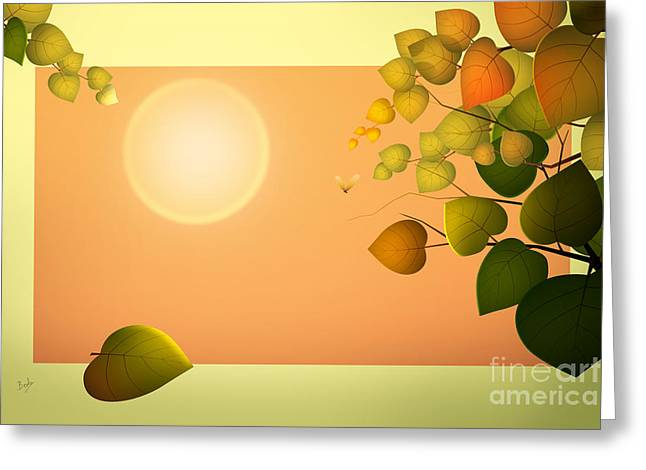 Dreaming Of Summer Greeting Card by Bedros Awak