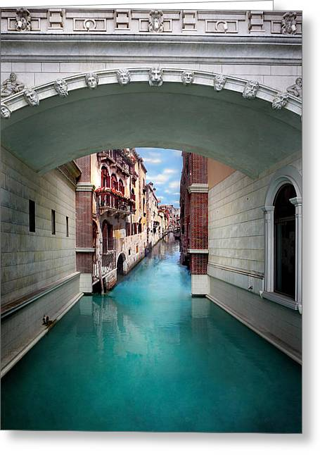 Dreaming Of Venice Greeting Card by Az Jackson