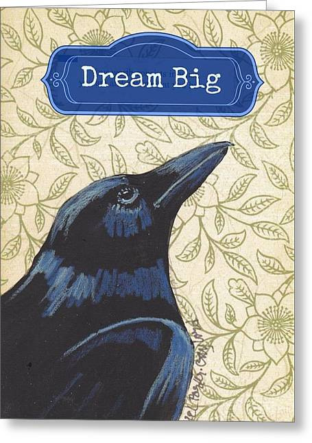 Dreaming Raven Greeting Card by Laurel Porter-Gaylord