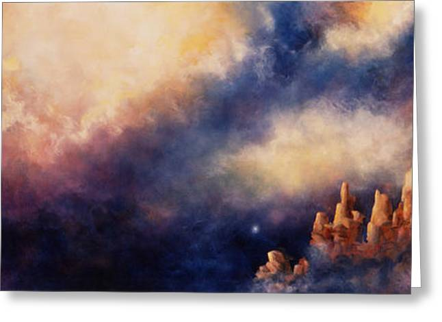 Greeting Card featuring the painting Dreaming Sedona by Marina Petro