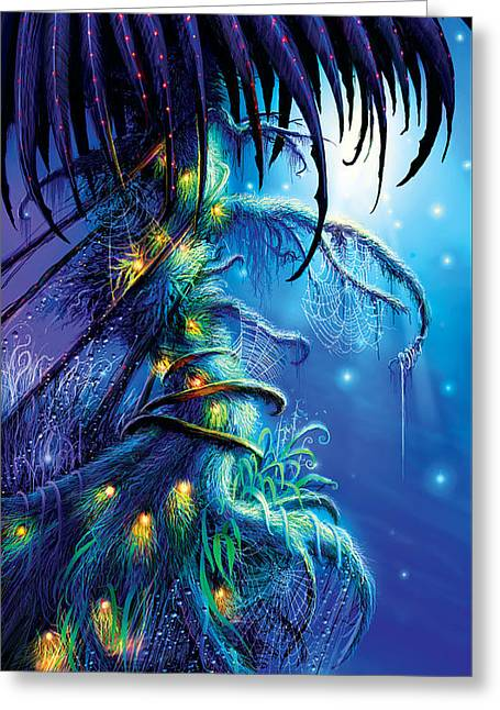 Dreaming Tree Greeting Card by Philip Straub
