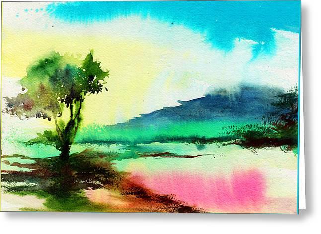 Dreamland Greeting Card by Anil Nene