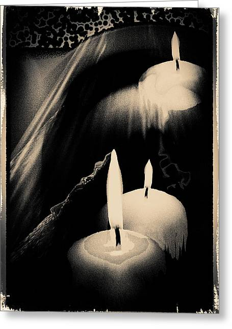 Dreams And Candlelight Greeting Card by Gerlinde Keating - Galleria GK Keating Associates Inc
