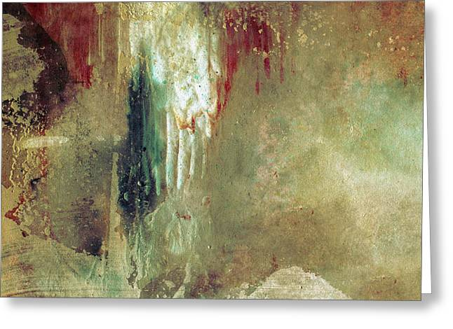 Dreams Come True - Earth Tone Art - Contemporary Pastel Color Abstract Painting Greeting Card