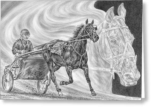 Dreams Of Greatness - Harness Racing Art Print Greeting Card by Kelli Swan