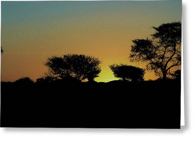 Dreams Of Namibian Sunsets Greeting Card by Ernie Echols