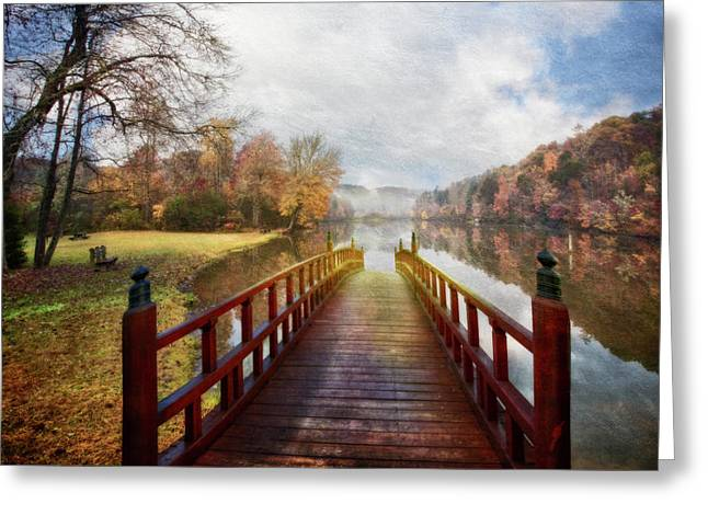 Dreams On A Misty Morn Greeting Card by Debra and Dave Vanderlaan