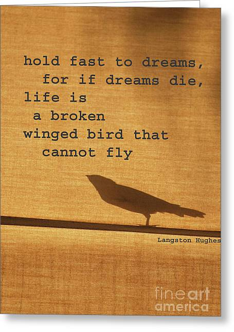Verbal Greeting Cards - Dreams on a Wing Greeting Card by adSpice Studios