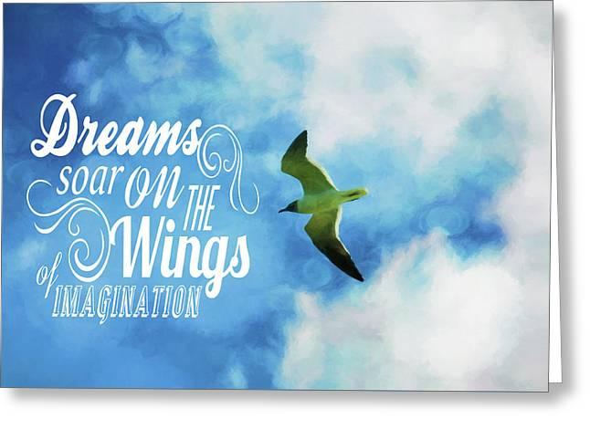 Greeting Card featuring the photograph Dreams On Wings by Jan Amiss Photography