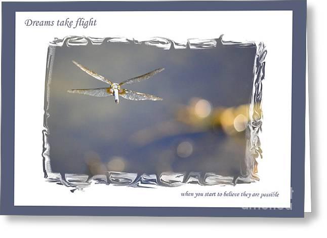 Dreams Take Flight Poster Or Card Greeting Card by Carol Groenen