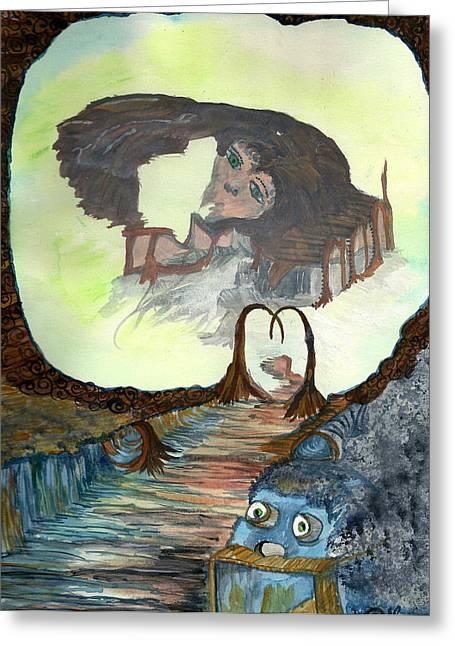 Dreamscape Greeting Card by Angela Pelfrey