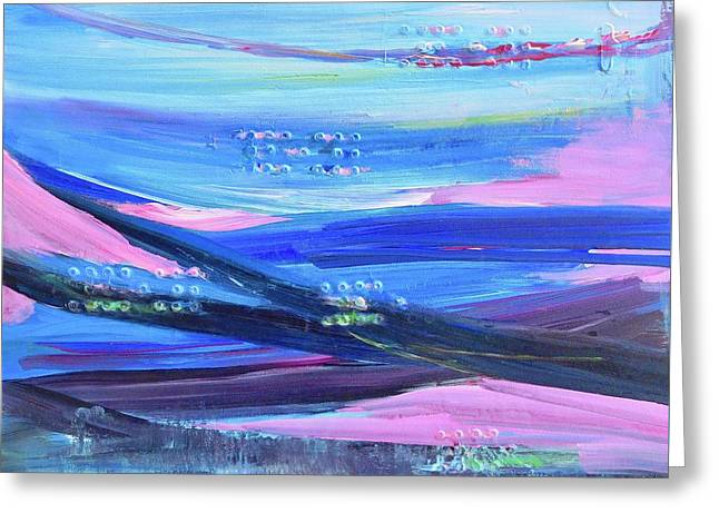 Greeting Card featuring the painting Dreamscape by Irene Hurdle