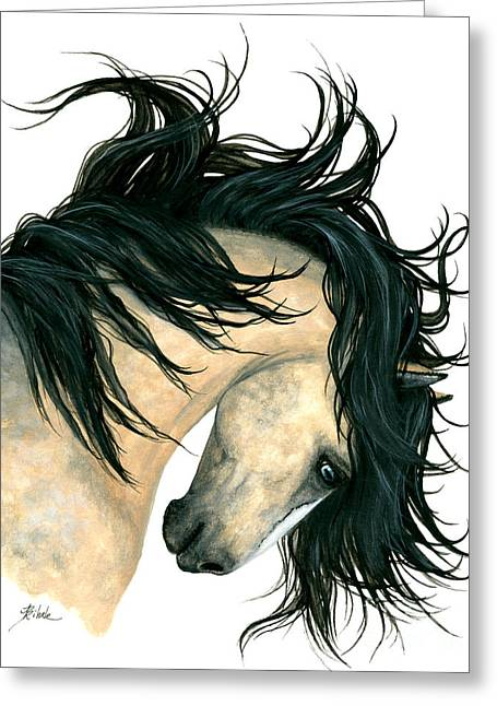 Dreamwalker Buckskin Horse Greeting Card by AmyLyn Bihrle