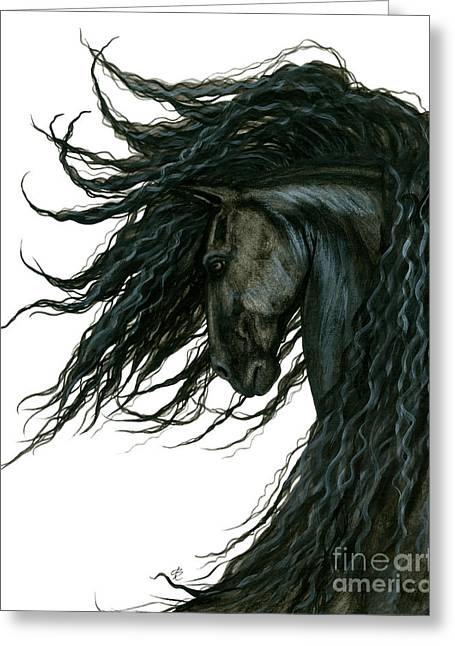 Dreamwalker Friesian Horse Greeting Card by AmyLyn Bihrle