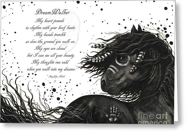 Dreamwalker Horse Poem #53 Greeting Card by AmyLyn Bihrle