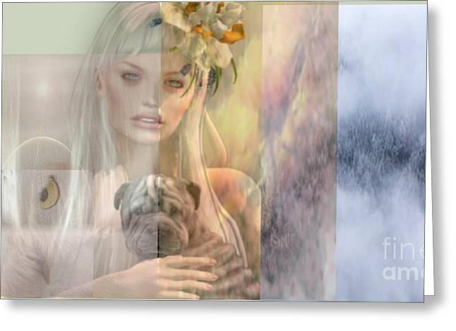 Dreamy 1 Greeting Card by Strati Varius