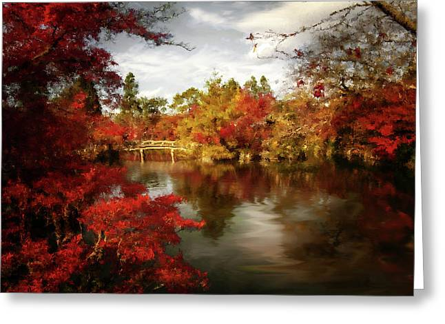 Dreamy Autumn Impressionism Greeting Card by Georgiana Romanovna