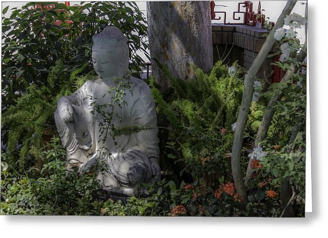 Dreamy Buddha Greeting Card by Teresa Mucha