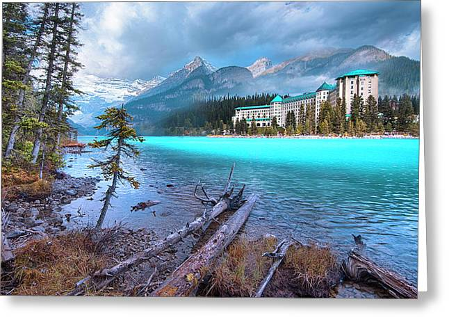 Greeting Card featuring the photograph Dreamy Chateau Lake Louise by John Poon
