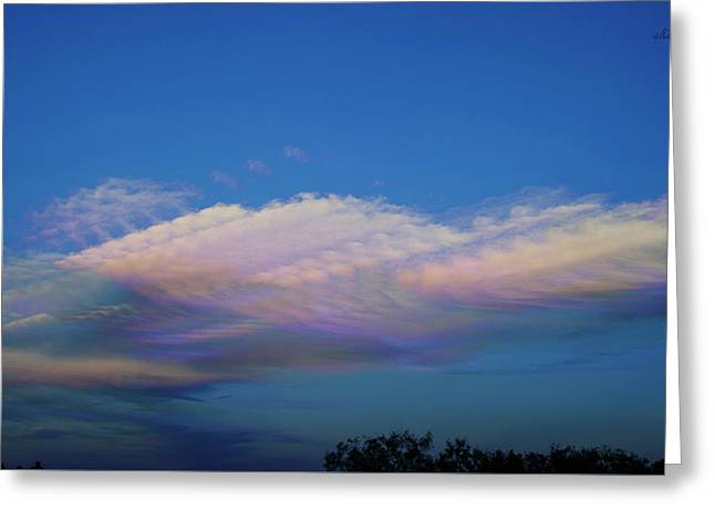 Dreamy Clouds Greeting Card by Karen Slagle