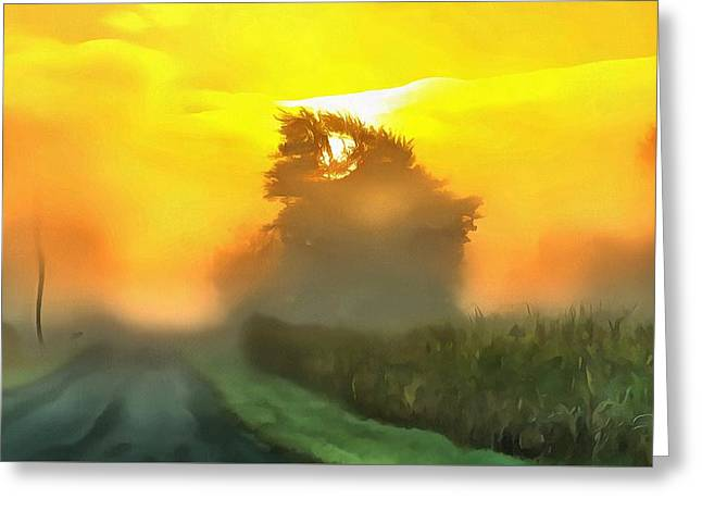 Dreamy Country Morning Greeting Card