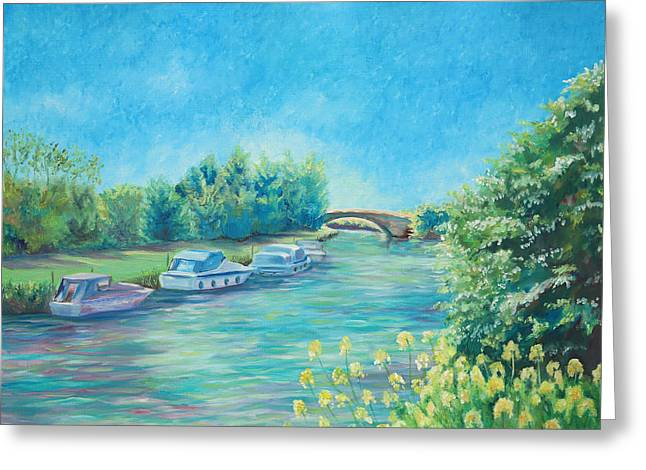 Greeting Card featuring the painting Dreamy Days by Elizabeth Lock